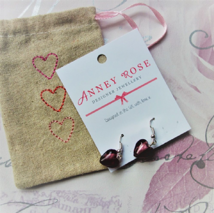 Over 30% OFF Glass heart Earrings